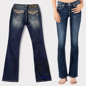 Miss Me Embellished Signature Rise Boot Cut Jeans